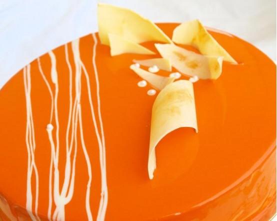 Купить Глазурь зеркальная мандариновая